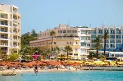 Παραλία - καρφίτσες του Juan les Στοκ εικόνα με δικαίωμα ελεύθερης χρήσης