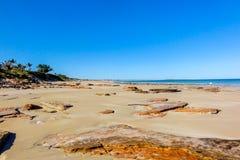 Παραλία καλωδίων, δυτική Αυστραλία Broome Στοκ Φωτογραφίες