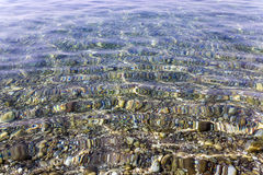 Παραλία Κινηματογράφηση σε πρώτο πλάνο αδριατική θάλασσα Στοκ Φωτογραφίες