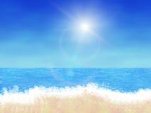Παραλία κινούμενων σχεδίων διανυσματική απεικόνιση
