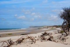 Παραλία κοντά σε Wissant στο βόρειο τμήμα της Γαλλίας το καλοκαίρι Στοκ Φωτογραφίες