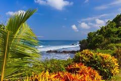Παραλία κοντά στο ναό μερών Tanah - Μπαλί Ινδονησία Στοκ φωτογραφίες με δικαίωμα ελεύθερης χρήσης
