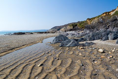 Παραλία Κορνουάλλη Hemmick Στοκ φωτογραφίες με δικαίωμα ελεύθερης χρήσης