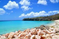 παραλία Κουρασάο στοκ εικόνα με δικαίωμα ελεύθερης χρήσης