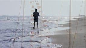 Παραλία, κολάζ απόθεμα βίντεο