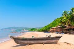Παραλία κόλας στο νότο Goa Στοκ εικόνα με δικαίωμα ελεύθερης χρήσης