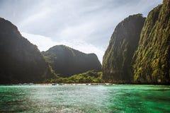 Παραλία κόλπων της Maya Στοκ Εικόνες