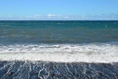 Παραλία κόλπων Pestana στη Μαδέρα στοκ εικόνες