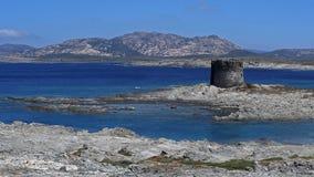 Παραλία Λα Pelosa, Stintino, Σαρδηνία Στοκ εικόνα με δικαίωμα ελεύθερης χρήσης