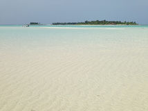 παραλία Μαλβίδες τροπικέ&s Στοκ φωτογραφία με δικαίωμα ελεύθερης χρήσης
