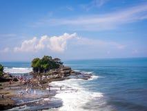 Παραλία μερών Tanah, Μπαλί, Ινδονησία Στοκ Εικόνες