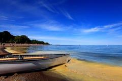 παραλία με το ειδικό χρώμα Στοκ Εικόνες