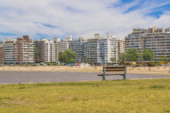 Παραλία Μοντεβίδεο Ουρουγουάη Pocitos Στοκ φωτογραφία με δικαίωμα ελεύθερης χρήσης