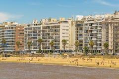 Παραλία Μοντεβίδεο Ουρουγουάη Pocitos Στοκ Φωτογραφίες
