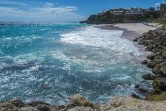 Παραλία Μπαρμπάντος Δυτικές Ινδίες γερανών Στοκ φωτογραφίες με δικαίωμα ελεύθερης χρήσης