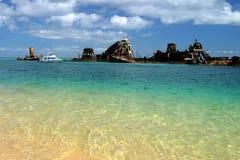 Παραλία Μπρίσμπαν Αυστραλία νησιών βόρειου Stadbroke ναυαγίου Στοκ φωτογραφίες με δικαίωμα ελεύθερης χρήσης