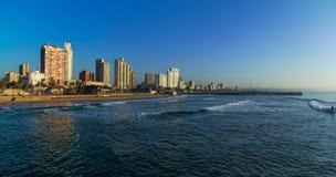 Παραλία μπροστινή Νότια Αφρική του Ντάρμπαν Στοκ Εικόνες