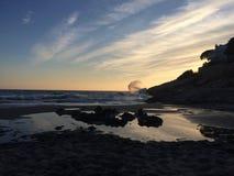παραλία μόνη Στοκ Εικόνες