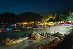 Παραλία νύχτας Ταϊλανδού Στοκ Εικόνα