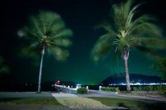 Παραλία νύχτας Στοκ φωτογραφία με δικαίωμα ελεύθερης χρήσης
