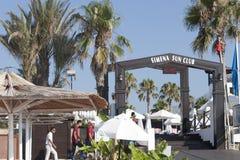 Παραλία ξενοδοχείων λεσχών ήλιων Simena στοκ φωτογραφία