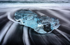 Παραλία πάγου Στοκ Φωτογραφίες