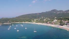 Παραλία Πάργα Valtos απόθεμα βίντεο