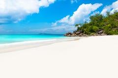 Παραλία παραδείσου - Anse Georgette σε Praslin, Σεϋχέλλες Στοκ φωτογραφίες με δικαίωμα ελεύθερης χρήσης