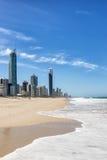 Παραλία παραδείσου Surfers στοκ εικόνες