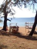 παραλία που κρύβεται Στοκ εικόνες με δικαίωμα ελεύθερης χρήσης