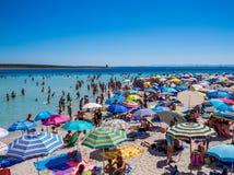 παραλία που συσσωρεύεται Στοκ εικόνες με δικαίωμα ελεύθερης χρήσης