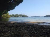 παραλία που χάνεται Στοκ Εικόνες