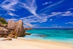 παραλία Σεϋχέλλες τροπι&kap Στοκ εικόνα με δικαίωμα ελεύθερης χρήσης