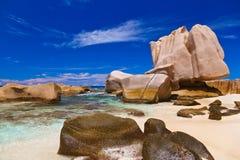 παραλία Σεϋχέλλες τροπι&kap Στοκ Φωτογραφίες