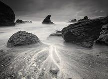 Παραλία σε γραπτό Στοκ Εικόνες