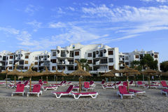 Παραλία σε Alcudia, Μαγιόρκα, Ισπανία Στοκ εικόνα με δικαίωμα ελεύθερης χρήσης