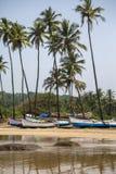 Παραλία σε Anjuna, Goa, Ινδία Στοκ Φωτογραφία