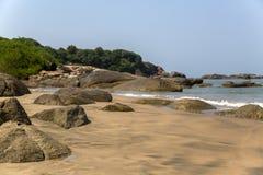 Παραλία σε Anjuna, Goa Στοκ φωτογραφία με δικαίωμα ελεύθερης χρήσης