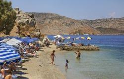 Παραλία σε Ano Symi Ελλάδα Στοκ εικόνες με δικαίωμα ελεύθερης χρήσης