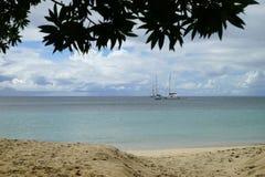 Παραλία σε Grande Anse δ ` Arlet, νησί της Μαρτινίκα, μικρότερο Antiles Στοκ Εικόνες