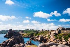 Παραλία σε Ploumanac'h στοκ εικόνα με δικαίωμα ελεύθερης χρήσης
