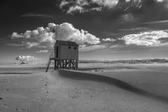 Παραλία-σπίτι στις Κάτω Χώρες στοκ φωτογραφία με δικαίωμα ελεύθερης χρήσης