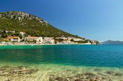 Παραλία στην Κροατία, θέρετρο Klek κοντά στη Βοσνία και Hercegovina Στοκ Φωτογραφία