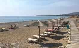 Παραλία στην Κύπρο Στοκ εικόνες με δικαίωμα ελεύθερης χρήσης