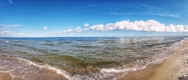 Παραλία στην Πολωνία στοκ φωτογραφίες