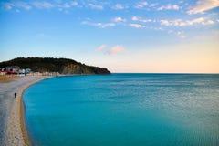 Παραλία στην τακτοποίηση Olginka Στοκ φωτογραφία με δικαίωμα ελεύθερης χρήσης