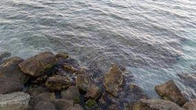 Παραλία στη Αγαθούπολη και το ηλιοβασίλεμα Στοκ φωτογραφίες με δικαίωμα ελεύθερης χρήσης