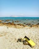 Παραλία στη Σαρδηνία, Ιταλία. Στοκ Εικόνα