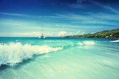 Παραλία στις Σεϋχέλλες, Praslin Στοκ Εικόνα