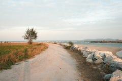 παραλία στον τρόπο Στοκ Εικόνες